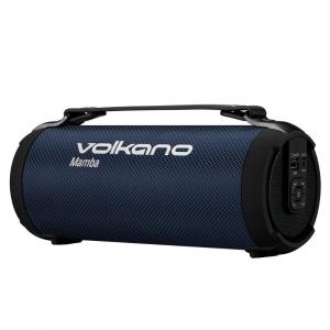 Volkano Portable Bluetooth Speaker with FM Radio and Micro SD Card Reader - Mamba Series - Blue